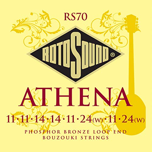 - Rotosound RS70 Athena Phosphor Bronze Loop End 8 String Bouzouki Strings