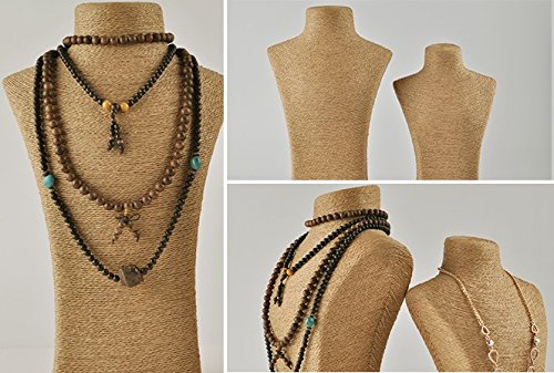 Pully Upscale Fabric Curved Necklace Pendant Tall Padded