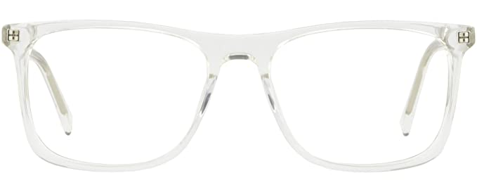 Amazon.com: Clear Translucent Large Wide Plastic Mens Womens Frames ...