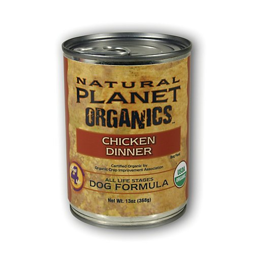 Tuffies Pet Food Tuffies Pet Natural Planet Organics Canned Dog Food Chicken - 13 oz cans / case Canned Food