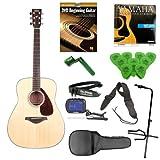 Yamaha FG700S Entry Level Acoustic Guitar with Acoustic Guitar Gig Bag, String Winder, Polypropylene Guitar Strap, Tuner, Guitar Picks, Quickstart DVD, Guitar Strings & Tripod Stand