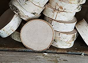 Birch Slices/Disks 3''- 4'' Dia. 1'' Thick (pack of 10)