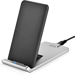 SKOXI Fold Wireless Charger,Adjustable Wireless Charging Stand & Pad,Qi-Certified Wireless Charger for iPhone X/XS/XS max/XR/8/8 Plus, for Samsung S10/S10E/9/S9+/S8/S8+/Note 8 and More