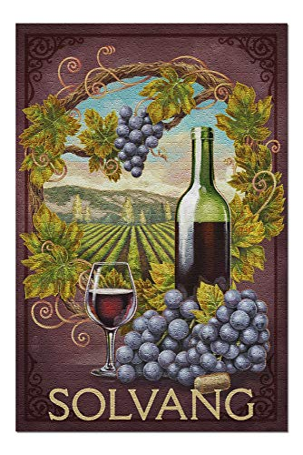 - Solvang, California - Merlot (20x30 Premium 1000 Piece Jigsaw Puzzle, Made in USA!)