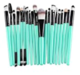 Teal/Black 20 Piece Makeup Brush Set
