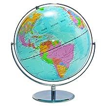 Advantus 12-Inch Desktop World Globe with Blue Oceans (30502)