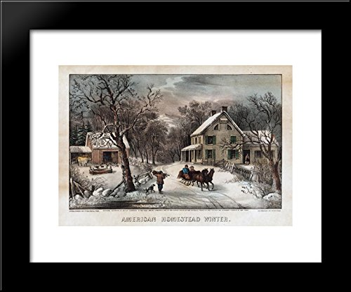 inter 20x24 Framed Art Print by Currier and Ives (Currier & Ives Framed)
