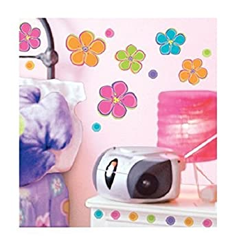 Perfect Main Street Wall Creations Jumbo Stickers Wall Decals   Colorful Flowers (2  Pack) Part 29