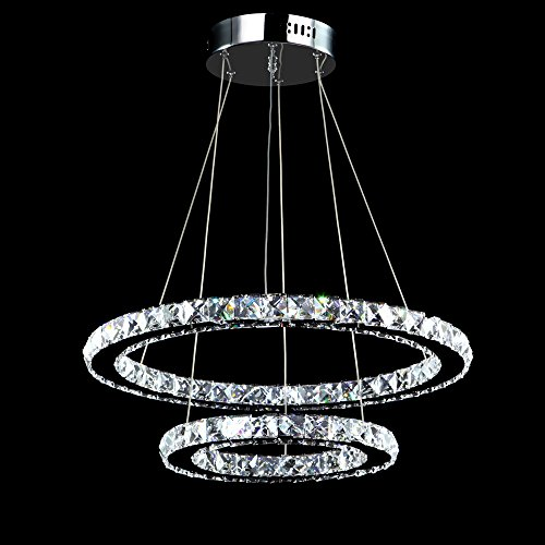 Meerosee crystal chandeliers modern led lmparas de techo lmpara de meerosee crystal chandeliers modern led ceiling lights fixtures pendant lighting dining room chandelier contemporary adjustable stainless steel cable 2 aloadofball Choice Image
