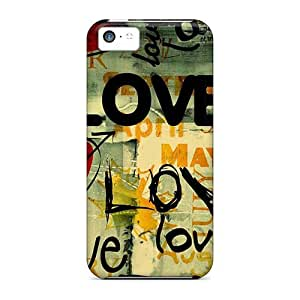New Snap-on ConnieJCole Skin Case Cover Compatible With Iphone 5c- Love Me