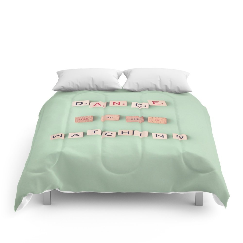 Society6 Dance Like No One Is Watching Comforters Full: 79'' x 79''