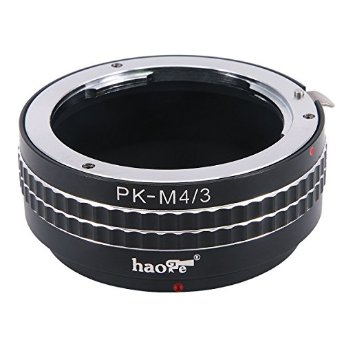 Haoge Manual Lens Mount Adapter for Pentax K PK Mount Lens to Olympus and Panasonic Micro Four Thirds MFT M4/3 M43 Mount Camera