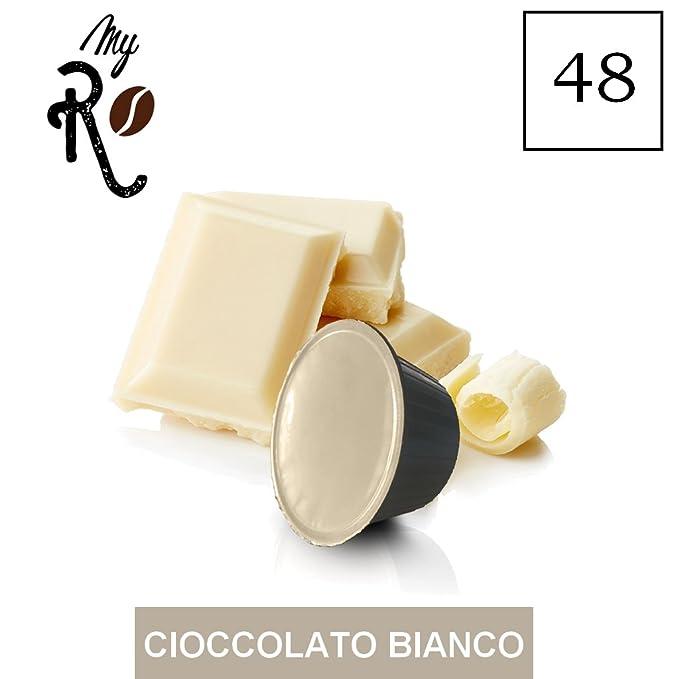 48 Cápsulas de café compatibles Nescafé Dolce Gusto - Chocolate blanco- Cápsulas compatibles con máquinas