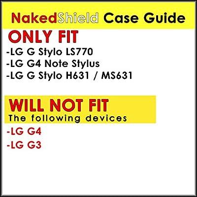 [NakedShield] Black/Black Holster Armor Tough Case - F for LG G Stylo LS770 / G4 Note Stylus from NakedShield