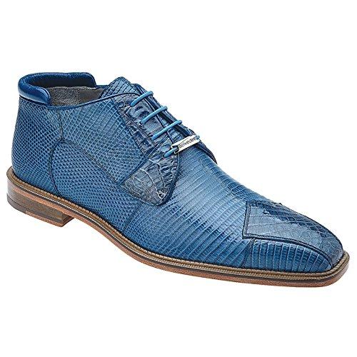 Belvedere Mens Napoli Genuine Lizard & Crocodile Boot, Blue Jean, 11.5 Medium (Belvedere Mens Oxford)
