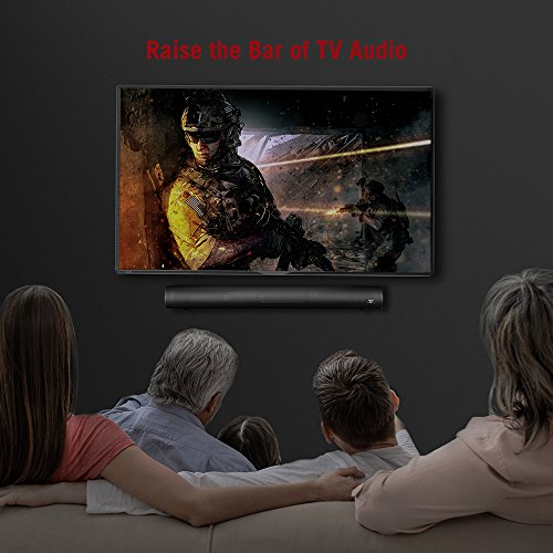 Updated-Version-Soundbar-TaoTronics-Sound-Bar-Wired-and-Wireless-Bluetooth-Audio-Speakers-25-Inch-Included-Optical-Cable-Dual-Connection-Methods-Remote-Control-with-Learning-Function