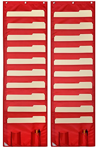 Wall Storage Pocket Charts (2 PACK) File - Kindergarten Word Wall Shopping Results