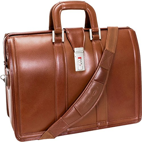 McKleinUSA MORGAN 83344 Brown 17 Litigator Laptop - Morgan Leather Series