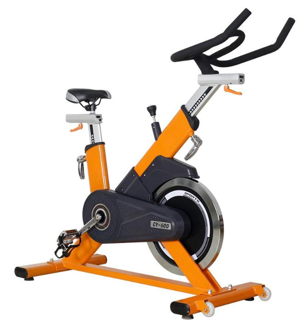 Lcyy-Bike Ciclismo Interior Bicicleta Entrenadores Comercial Resistencia Infinita 20 Kg Volante Cardio Entrenamiento Ajustable Manillares Y Altura De Asiento para Hombre/Mujer Amarillo