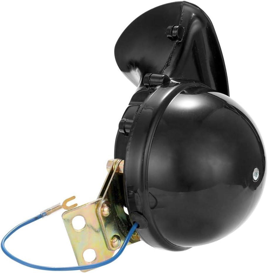 KKmoon Super Loud 105dB 12V Electric Snail Horn 12V Air Horn Raging Sound for Car Motorcycle Truck Boat,Black