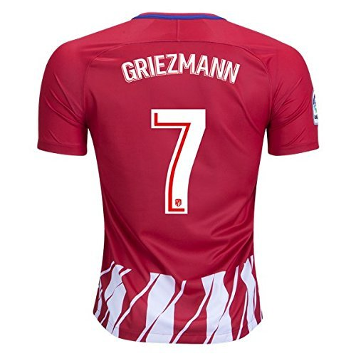 fan products of Runsportj Atletico Madrid Griezmann #7 Home Mens Soccer Jersey 2017-2018 Red/White Size S