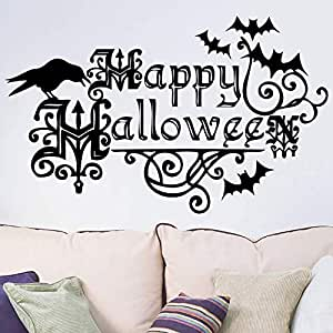 Halloween Wall Glass Shop Stickers Carnival Night Party Wall Decoration