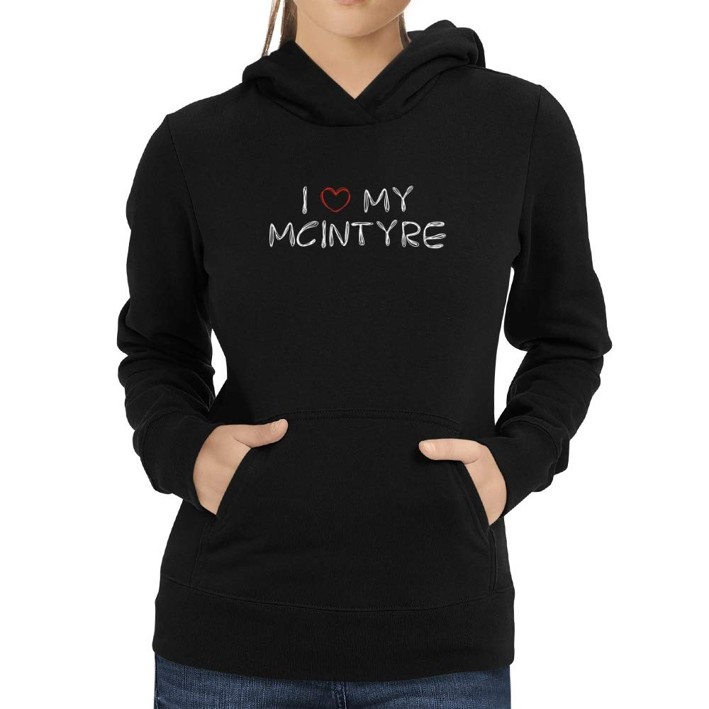 Eddany I Love My McIntyre Scribbled Font Women Hoodie