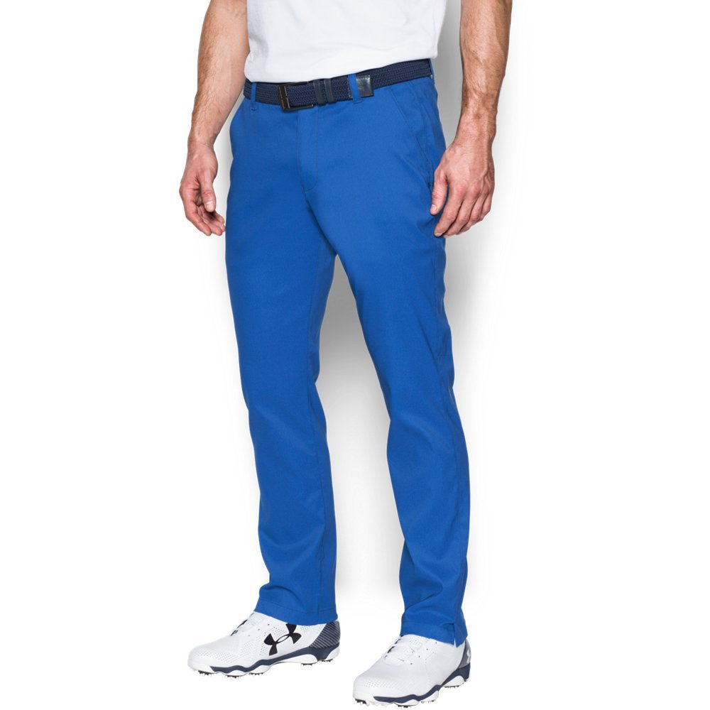 Under Armour Men's Match Play Tapered Houndstooth Pants, Blue Marker /Academy, 32/30