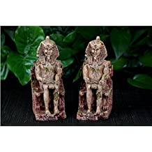 K&C Egyptian Pharaoh Ancient Sphinx Ruins Aquarium Fish Tank Ornament Decoration 1 Pcs