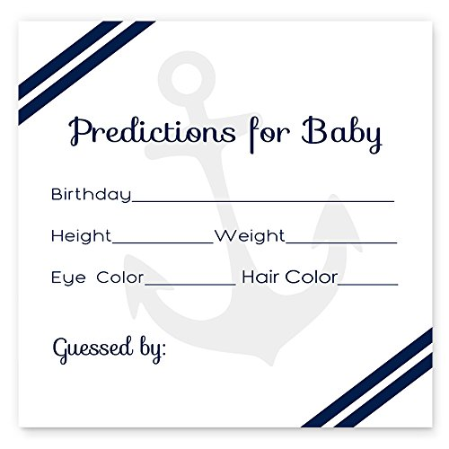 Nautical Baby Shower Predictions for Boys Set of