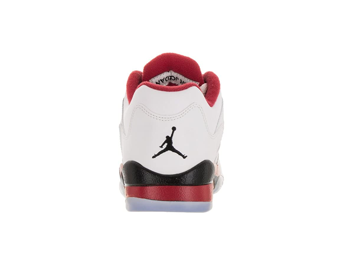 huge discount ab6d0 9b38a Amazon.com   Youth Air Jordan 5 Retro Low (GS) 314338 101 White  Red  Black  Size 6y   Fashion Sneakers