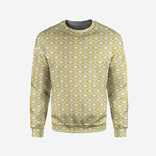 iPrint Mens Black and White Pullover Sweater by iPrint