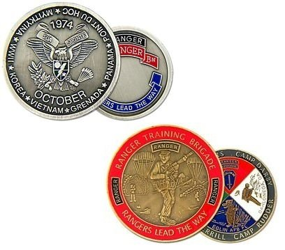 US Army Ranger 1st Ranger Battalion Challenge Coin and Ranger Training Challenge Coin (Battalion Challenge Coin)