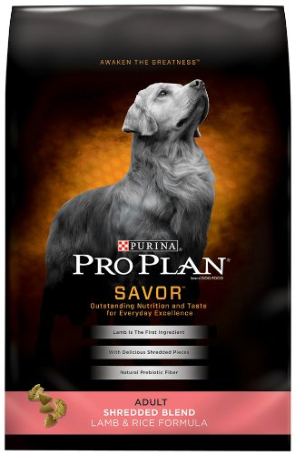 Purina Pro Plan Dry Adult Dog Food, Shredded Blend Natural Lamb and Rice Formula, 35-Pound Bag, My Pet Supplies