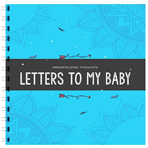Baby Time Capsule (BLUE EDITION / Immortalizing Thought: Letter To My Baby! Personalized Baby Gifts For Newborn - Your Children Memory Time Capsule & Beautiful Journal Book.)