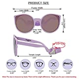 COCOSAND Baby Sunglasses with Strap Cateye Style
