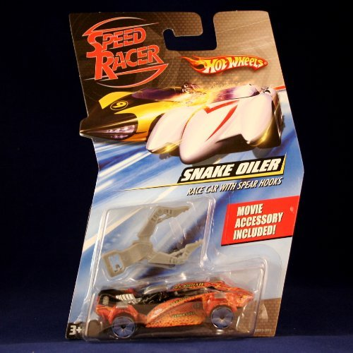SNAKE OILER RACE CAR WITH SPEAR HOOKS Hot Wheels SPEED RACER 1:64 Scale Movie Vehicle ()