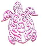 Nipitshop Patches Fashion White Pink Sea Turtle