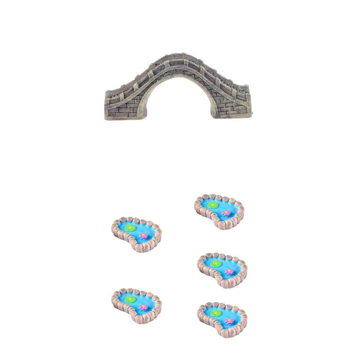 Amazon.es: B Blesiya Estatuilla en Miniatura Puente Estanque Lotus ...