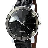 Men Quartz Watch COOKI Clearance Analog Business Casual Fashion Wrist Watch Men's Cheap Leather Watch