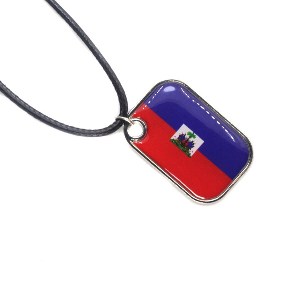 xbwwt 2018Flag National Flag Football Sports Leather Necklace Mens Women Chain Necklace Pendant Fashion Jewellery Columbia 44+4cm