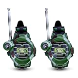 Domccy 2 PCS Watch Walkie Talkies for Kids Long Range Two-Way Radio Camo Outdoor Army Toys 150 Meters Toys & Games, Doll House, Children's Toys, Halloween Game