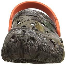 crocs Swiftwater Realtree Xtra Clog (Toddler/Little Kid), Walnut/Tangerine, 1 M US Little Kid