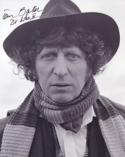 TOM BAKER as The 4th Doctor - Doctor Who GENUINE AUTOGRAPH