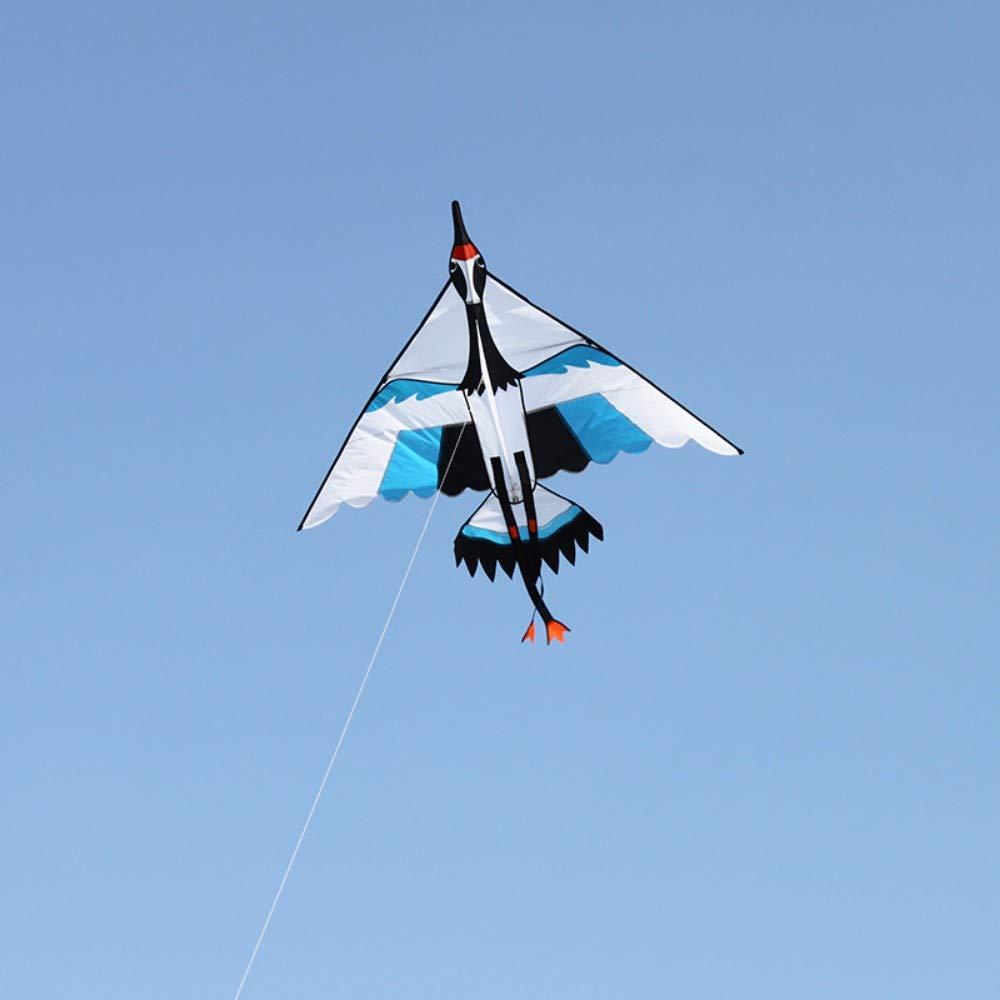 YPKHHH Nouveau cerf-Volant créatif doté de Grandes grues de ponçage triangulaires Breeze faciles à Piloter avec Une Roue à Roues alignées Ligne 200m