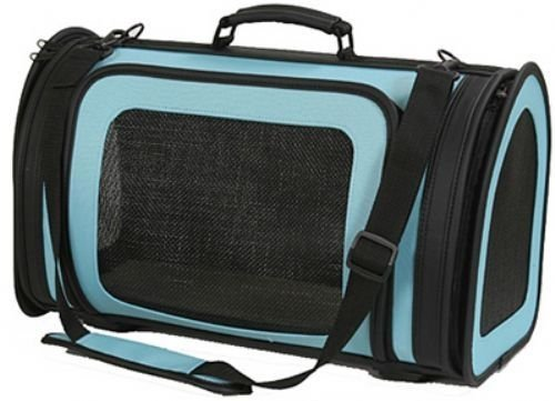 Petote Kelle 6-Pound Pet Carrier Bag, Small, Turquoise bluee