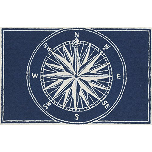 Liora Manne FT112A51033 Whimsy Sphere Rug, Indoor/Outdoor, 20'' x 30'', Navy by Liora Manne