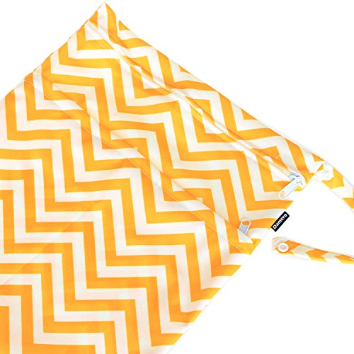 Damero 2pcs Paquete de viaje lindo mojado bebé y pañales de tela en seco bolsa de asas Organizar--Grande(Verde+Azul claro) Chevron amarillo+azul Chevron