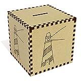 Azeeda Large 'Stripy Lighthouse' Money Box / Piggy Bank (MB00063364)