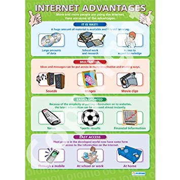 Internet Advantages |ICT Educational Wall Chart/Poster in ...